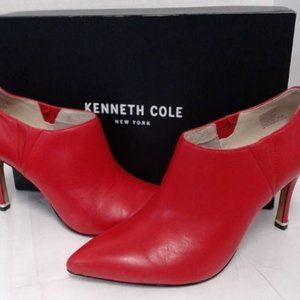 Kenneth Cole New York Magella Ankle Boots sz 8 Red